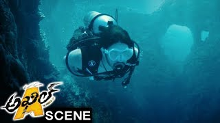 Akhil Finds Jua In Evil Pond And Escapes From Killer Fishes - Adventure Scene - Akhil Movie Scenes