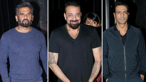 Sanjay Dutt, Sunil Shetty, Arbaz - Sohail Khan At Launch Of Bunny Sanghavi's Lounge B