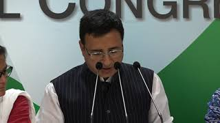 AICC Press Briefing By Randeep Singh Surjewala in Congress HQ on the Biggest Banking Scam.