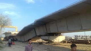 Pre-cast beam of bridge over Bein river collapses