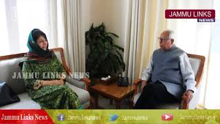 Mehbooba Mufti apprises Governor on issues related to security in J&K