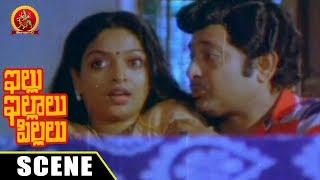 Chandramohan Romance With Anusha - Comedy Love Scene - Illu Illalu Pillalu Movie Scenes