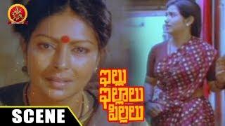 Kutti Padmini Blames Visu - Sharada Heart Broken Emotional Scene - Illu Illalu Pillalu Movie Scenes