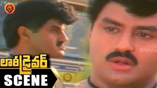 Balakrishna Stunning Intro - Balakrishna and Vinod Fight - Lorry Driver Movie Scenes