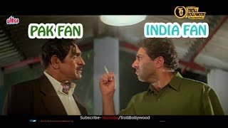 Amrish Puri And Sunny Deol Talking about India Pakistan Match (Bollywood Dubbin)  | Troll Bollywood