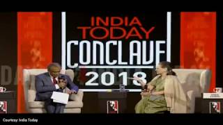 UPA Chairperson Smt. Sonia Gandhi at the India Today Conclave-2018 | Interaction and Q&A