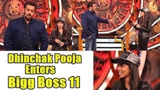 Dhinchak Pooja Enters Bigg Boss 11 House I Salman Khan Makes Fun of Dhinchak Pooja!