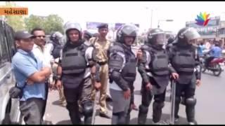 Stone Throwing, Teargas And Firing During Jail Bharo Andolan At Mehsana
