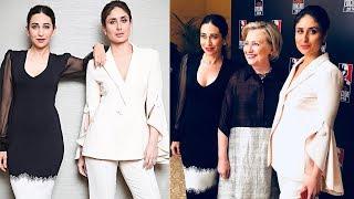 Kareena Kapoor & Karisma Kapoor Meets Hillary Clinton At India Today Conclave 2018