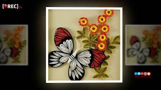 Newspaper wall hanging || Newspaper Crafts I quilling wall hangings ideas | rectv india