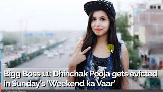 Dhinchak Pooja Gets Evicted From Bigg Boss 11