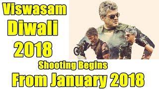 Thala Ajith Signed Viswasam Film I Shooting In Jan 2018 Diwali Release
