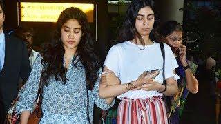 Emotional Janhvi HOLDS Khushi's Arm Tightly While Returning From Chennai, After Sridevi Prayer Meet