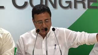 AICC Press Briefing By Randeep Surjewala and RPN Singh in Congress HQ on India's farm distress.