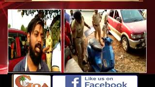 Drunk Karnataka Tourist Goes On Rampage, Crashes Car On Parked Motorcycles