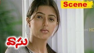 Bhoomika Impressed With Venkatesh Talent - Love Scene - Vasu Movie Scenes