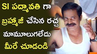 Brahmaji as SI Padmavathi Hilarious Comedy Scene || Auto Ram Prasad Comedy || Brahmaji Comedy Scenes