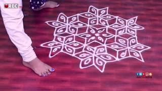 Ugadi Festival Special designs with 11*5  interlaced dots | ugadi | simple designs | rectv india