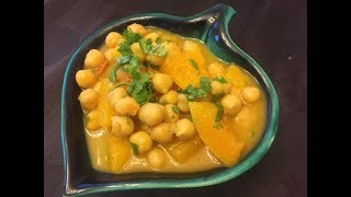 Chickpea Coconut Curry with Butternut Squash | Vegan Healthy Tasty Recipe