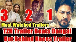 Tiger Zinda Hai Trailer Beats Dangal Trailer Record But Behind Raees Trailer