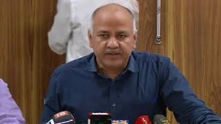 Delhi Dy CM Manish Sisodia briefs media after all-party meeting on the issue of sealing