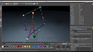 Zero Gravity Animation using Tracer, Turbulence, Vibrator & Dynamics in Cinema 4D Tutorial