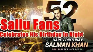 Salman Khan Fans Gathered In Front Of His House To Celebrate Salman's Birthday