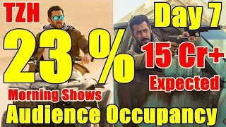 Tiger Zinda Hai Audience Occupancy Day 7 Morning Shows