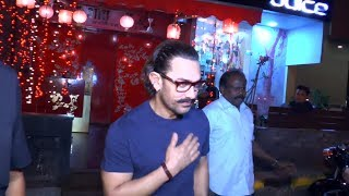 Aamir Khan Spotted Outside Aura Saloon In Bandra At His 53rd Birthday
