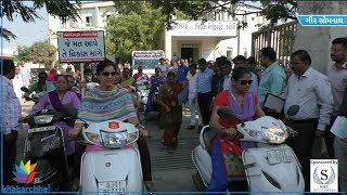 Women joined voting awareness bike rally in Gir somnath