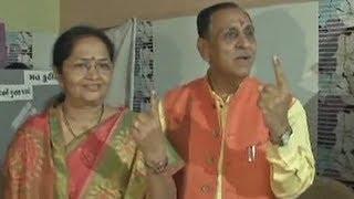 Gujarat CM Vijay Rupani gave vote
