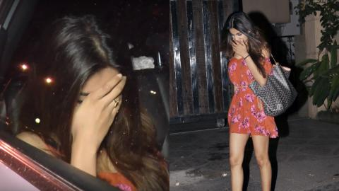 Nidhhi Agerwal Hiding Her Face From Paparazzi