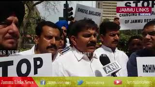 JKNPP protests outside Parliament against conspiracy to change Jammu's demography
