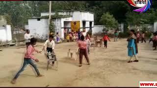 सरकारी स्कूल में बच्चों को खूब भया म्यूजिकल चेयर गेम