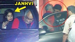 Boney Kapoor With Janhvi Kapoor LATE NIGHT Meets Arjun Kapoor At His House