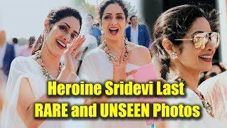 Heroine Sridevi Last RARE and UNSEEN Photos | Actress Sridevi Last Photos in Dubai