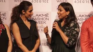 Malaika Arora at LakmeFashionWeek 2018 presenting LABEL DE BELLE