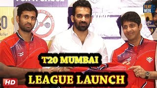 CRICKETER ZAHEER KHAN AT LAUNCH OF SOBO SUPERSONIC T-20 TEAM