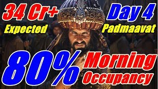Padmaavat Audience Occupancy Day 4 I Morning