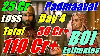 Padmaavat Box Office Collection Day 4 Early Estimates