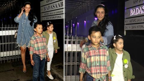 Maanayata Dutt SPOTTED With Her Kids At Hakkasan