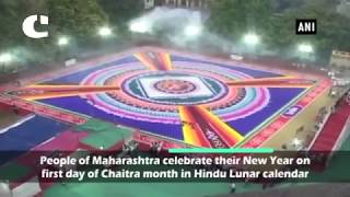 18,000 Square Feet Long Rangoli