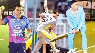 Bollywood Celebs Playing CRICKET | Salman Khan, Bobby Deol, Suniel Shetty, Sohail Khan