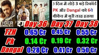 Tiger Zinda Hai Vs Dangal Vs PK 6th Weekend Detail