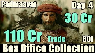 Padmaavat Box Office Collection Day 4 I BOI