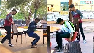 Chair Pulling Prank | Pranks In India - iDiOTUBE