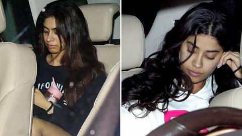 Janhvi Kapoor And Khushi Kapoor Dine With Sister Anshula Kapoor At Her Residence