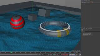 Object Constraint with HOT4D Water Making in Cinema 4D Tutorial