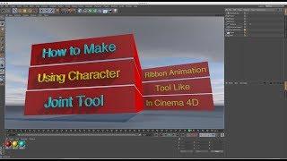 Making Text Ribbon using Joint Tool Binding Cinema 4D Tutorial