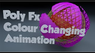 Poly Fx Colour Changing Animation in Cinema 4D Tutorial